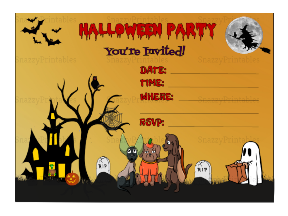 halloween party invitation printable 1 instant download pdf