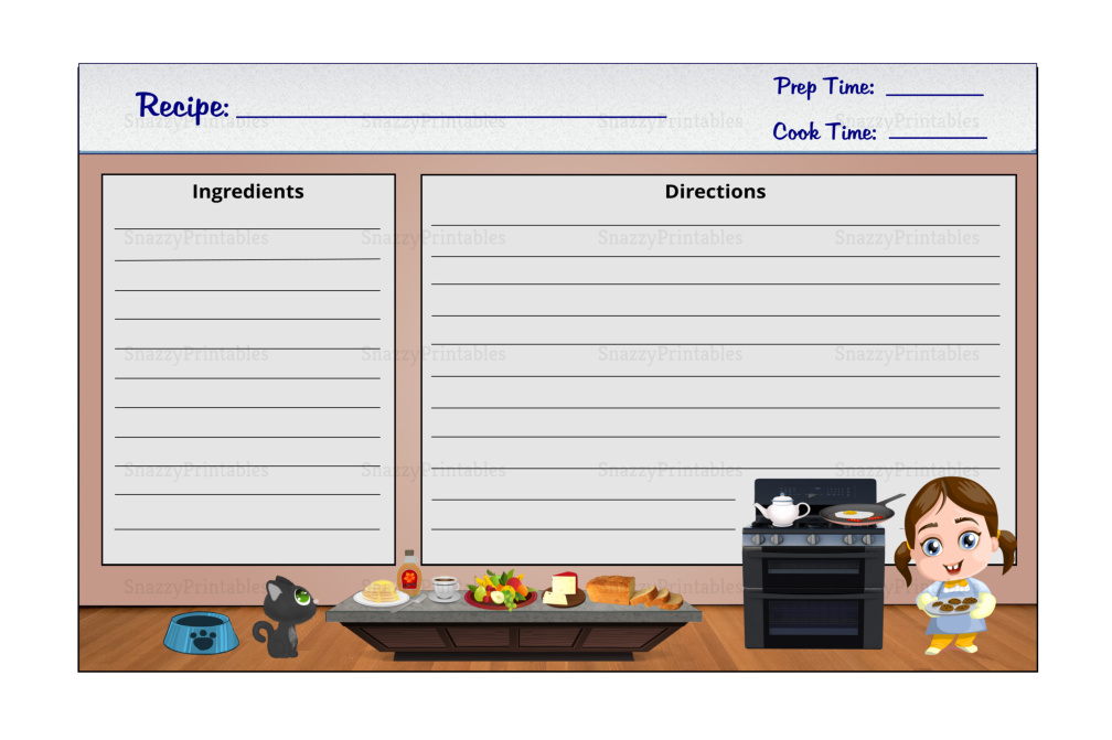Recipe Cards Printable - Instant Download PDF