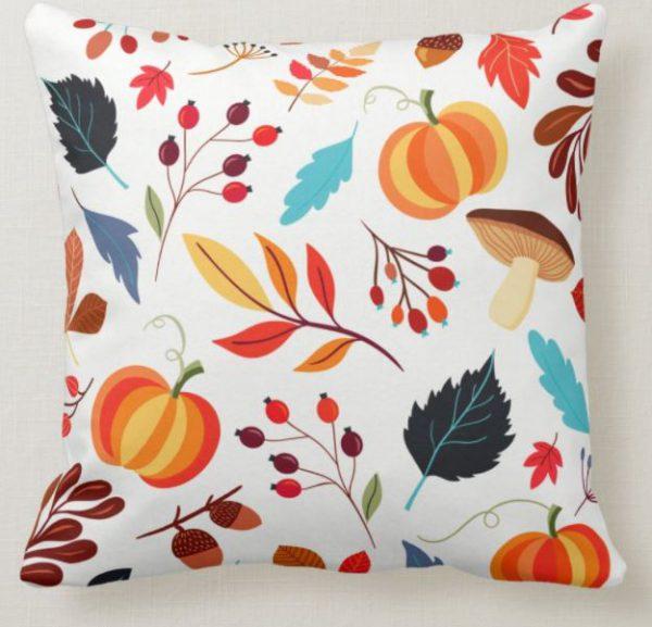 Rustic Autumn Decor Throw Pillow