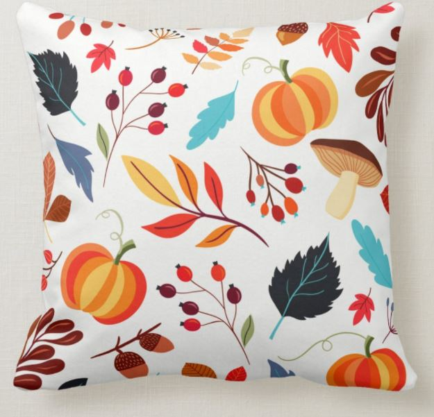 Rustic Autumn Decor Throw Pillow