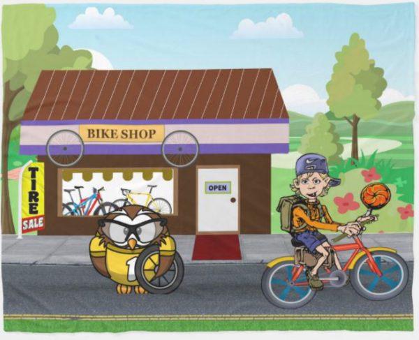 Bike Sale - Y'owl Get Some New Wheels! Fleece Blanket