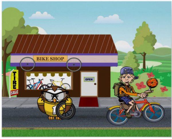 Bike Sale - Y'owl Get Some New Wheels! Acrylic Print