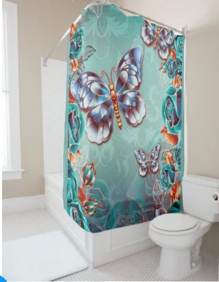Shower curtain dream in purple