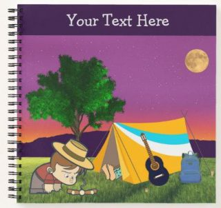 Cute Camping Trip Outdoors Notebook