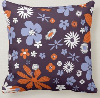 Colorful Flower Petals Throw Pillow