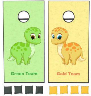Cute Baby Brontosaurus Dinosaurs Cornhole Set