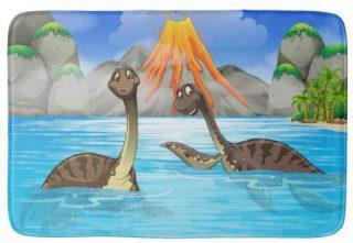 Funny Dinosaurs bath mats
