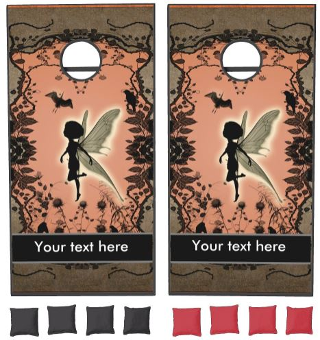 Cute fairy silhouette cornhole set