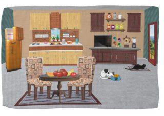 Freezer Open but Cats Don't Care Kitchen Towel