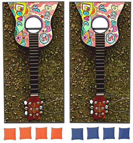 Colorful Guitar Corn Hole Game