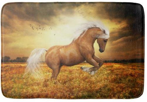 Palomino Horse rearing bath mat