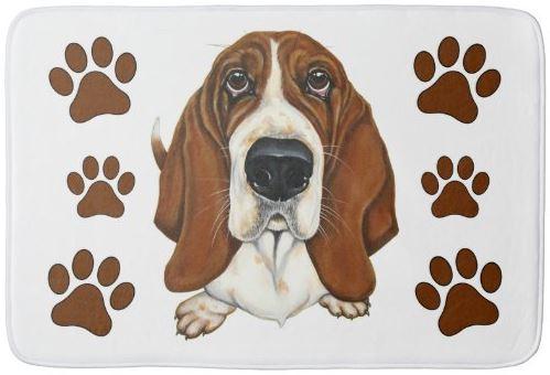 Love Me Dog Basset Hound Bath Mat