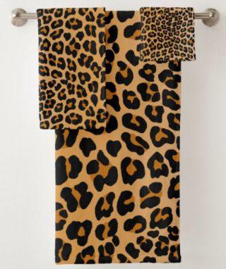 Leopard Bath Towel Set