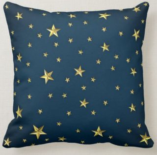 Midnight Starry Night Throw Pillow