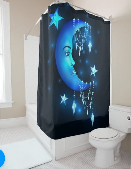 Crescent Moon Shower Curtain