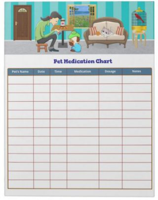 Pet Medication Chart Notepad