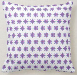 Purple Stars Throw Pillow