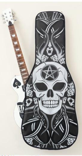 Gothic Skulls Guitar Case